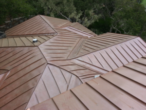 Copper Roof Standing Seam