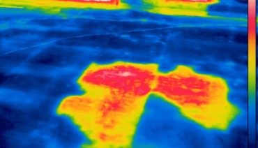 Infrared Roof Moisture Imaging